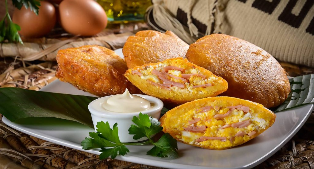 Cunit - Arepa de huevo con jamón