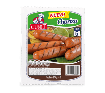 Chorizo marca Cunit