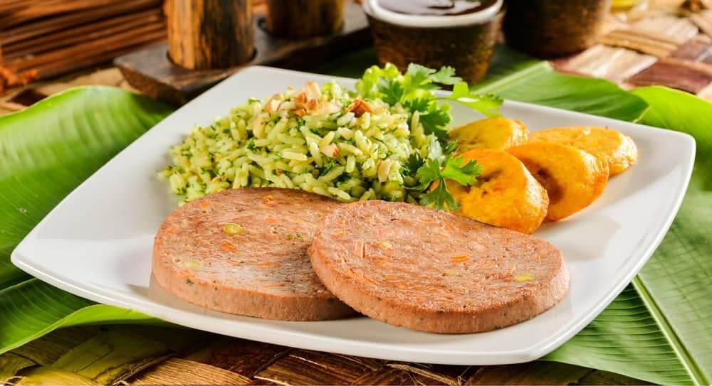 Receta arroz verde y rollo de carne