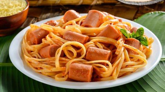 Receta pasta con salchicha Cunit