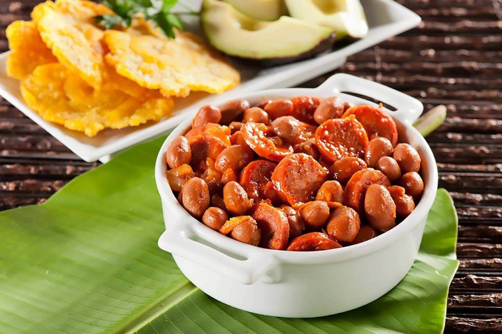 Receta de fríjoles con chorizo