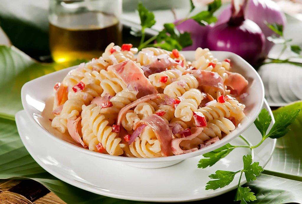 Receta pasta fría con jamón