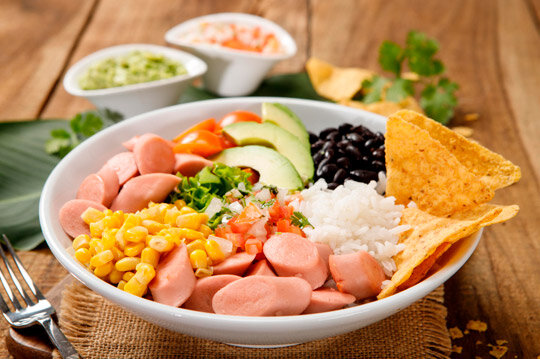 Bowl de arroz con Salchicha Cunit