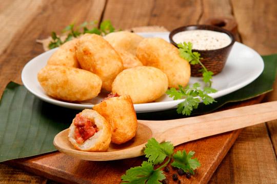 Carimañolas con Chorizo Cunit
